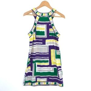 BCBGMAXAZRIA Colorful Silk Dress pull over
